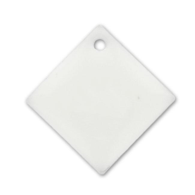 losanges r sine poxy 18 mm blanc x10 perles co. Black Bedroom Furniture Sets. Home Design Ideas