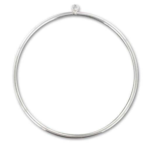 code promo ramassé livraison gratuite Bracelet jonc avec anneau 65 mm en Argent 925 x1
