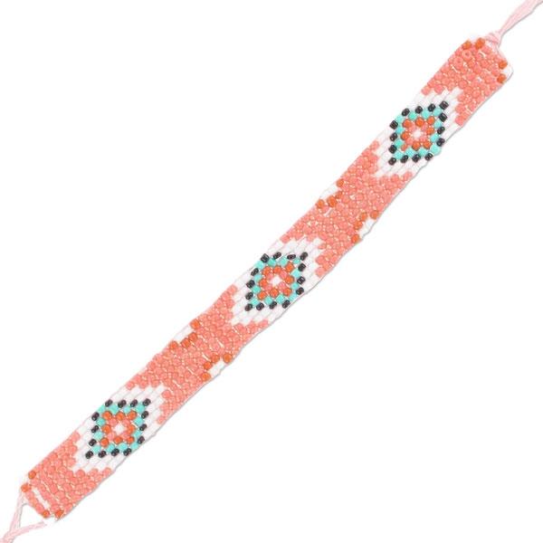 Beliebt Bracelet tissé en perles 14 mm Corail - Perles & Co DH37