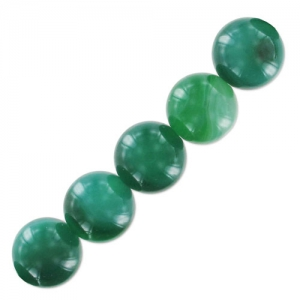 Green Lace Agate 10 mm x5