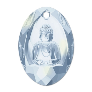 Bouddha Swarovski 6871 28x19.8 mm Crystal Blue Shade x1