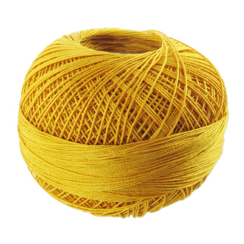 fil de coton lizbeth taille 20 gold n 611 x192m lizbeth