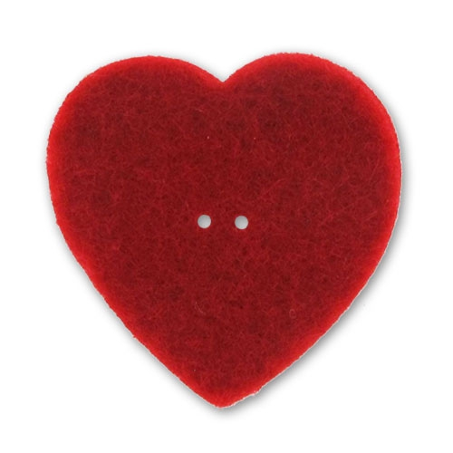 coeur en feutrine 40 mm rouge x1 perles co. Black Bedroom Furniture Sets. Home Design Ideas