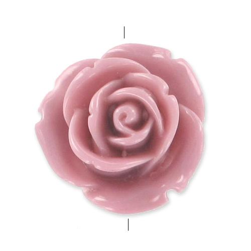 rose 25 mm vieux rose x1 perles co. Black Bedroom Furniture Sets. Home Design Ideas