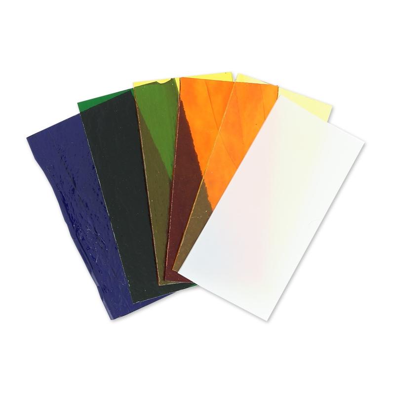 assortiment de plaques de verre coe90 5x10 cm multicolore. Black Bedroom Furniture Sets. Home Design Ideas