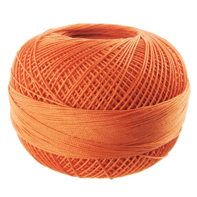 fil de coton lizbeth taille 20 medium coral orange n 702. Black Bedroom Furniture Sets. Home Design Ideas