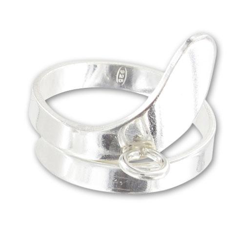 bague d cor e 1 anneau en argent 925 x1 perles co. Black Bedroom Furniture Sets. Home Design Ideas