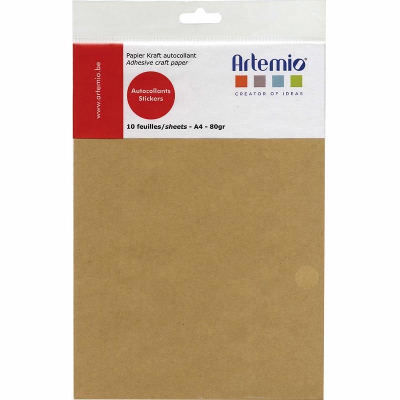 Feuilles de papier kraft autocollant a4 x10 artemio - Plaque mosaique adhesive ...