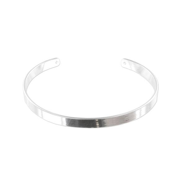 bracelet jonc plat d corer 15 cm en argent 925 x1 perles co. Black Bedroom Furniture Sets. Home Design Ideas