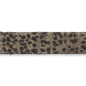 Lacet cuir texturé 5 mm Marron x30cm - Perles & Co