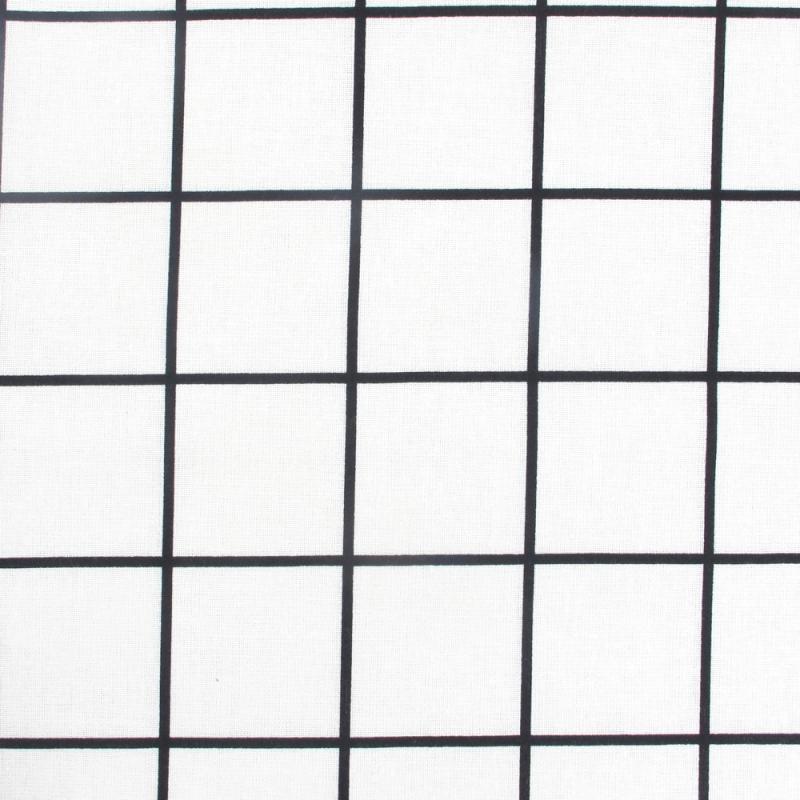 Tissu carreau noir blanc x10cm tissus rico design rico desig perles co - Carreau ciment noir et blanc ...