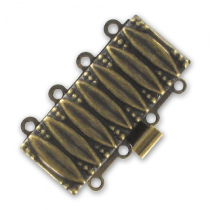 Fermoir 4 rangs 25x15 mm bronze x1