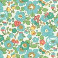 Tissu Liberty - Betsy Turquoise x10cm