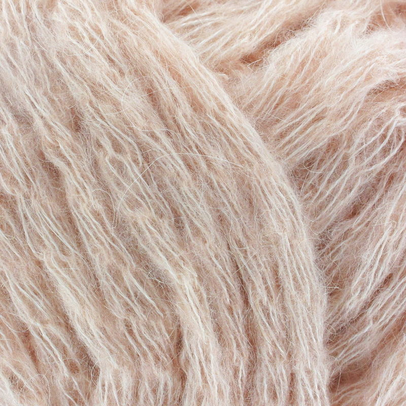 laine rose poudre