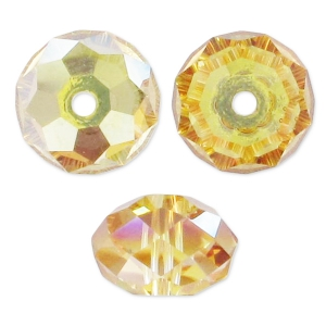 Rondes aplaties Swarovski 5040 4 mm Crystal Metallic Sunshine x20