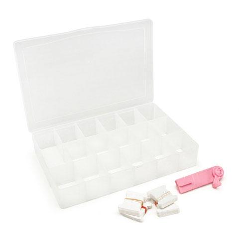 Boite de rangement pour fils coudre 17 compartiments for Rangement fil de couture