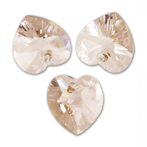 Coeur Swarovski 6228 14,4x14 mm Light Silk x1