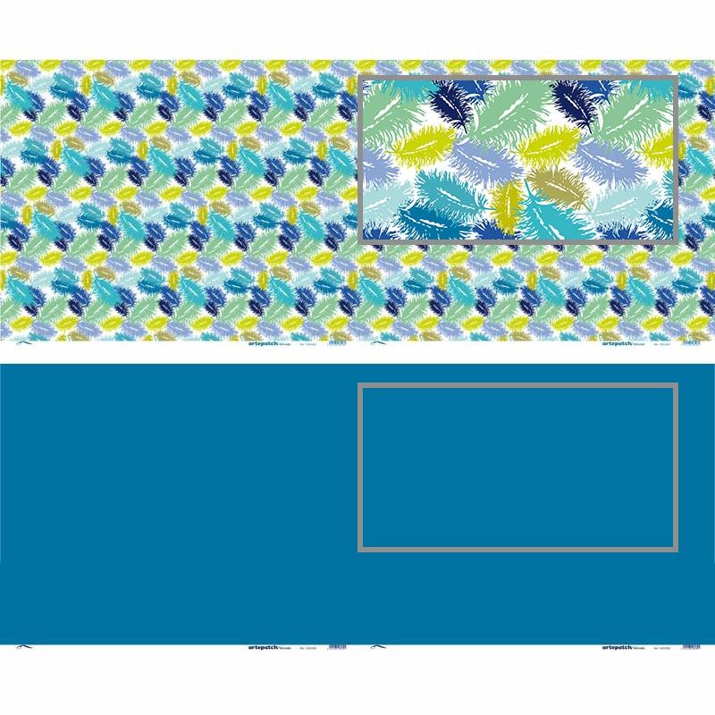 feuilles de papier d coratif coller plumes bleue x2 artemio perles co. Black Bedroom Furniture Sets. Home Design Ideas