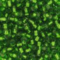Rocailles 2,5 mm Dark Peridot Silver Lined x10g