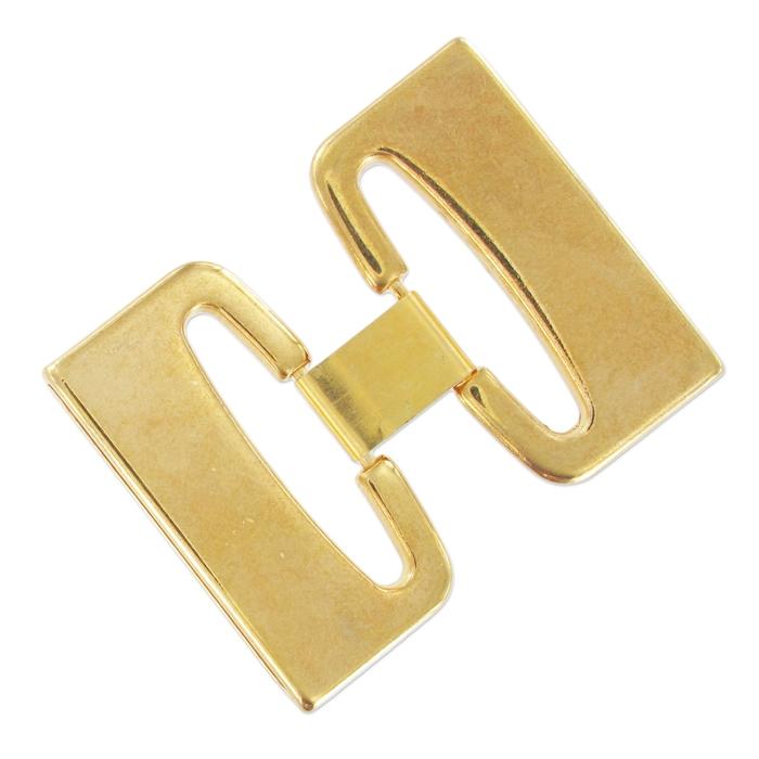 Fermoir ceinture pour lacet 40 mm doré - Perles   Co 71cb1e9b67b