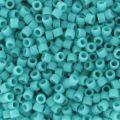 Miyuki Delicas 11/0 DB0759 - Mat Opaque Turquoise Green x8g