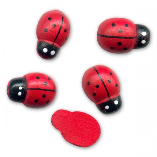 coccinelles en bois coller 13x9 mm rouge x10 perles co. Black Bedroom Furniture Sets. Home Design Ideas