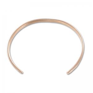 New York moitié prix haut de gamme authentique Bracelet jonc en laiton 2 anneaux 58 mm doré rose x1