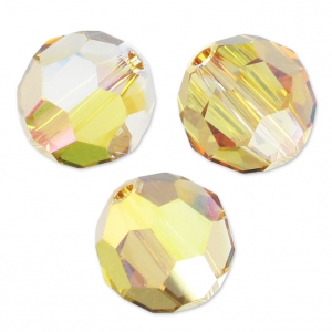 Rondes Swarovski 5000 4 mm Crystal Metallic Sunshine x20