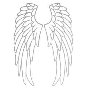 Aile D Ange transfert thermocollant ailes d'ange argenté x1 - perles & co