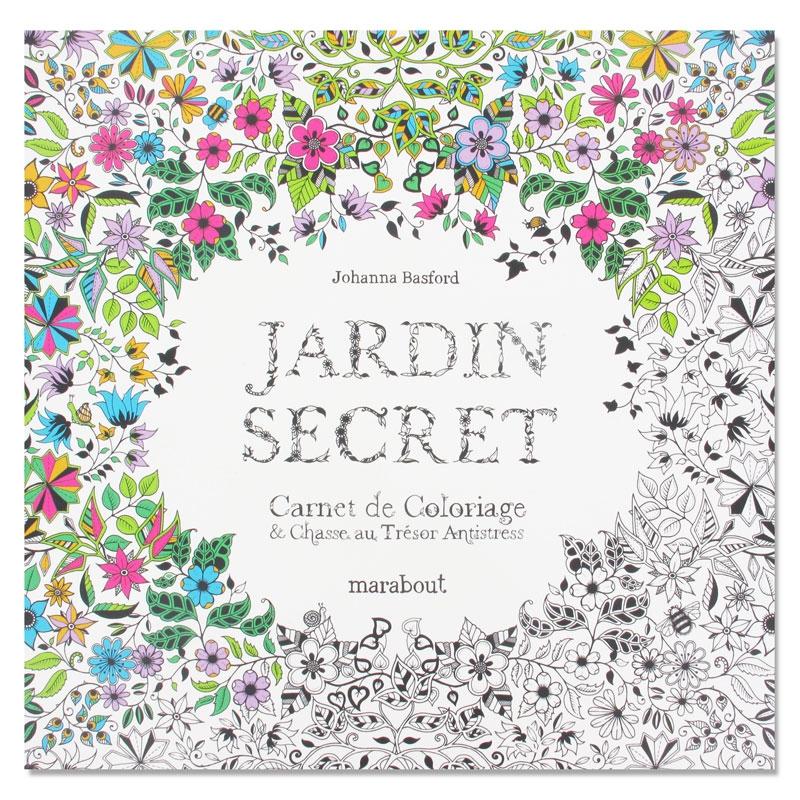 jardin secret carnet de coloriage perles co. Black Bedroom Furniture Sets. Home Design Ideas