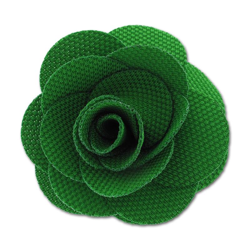 broche fleur en tissu 65 mm vert perles co. Black Bedroom Furniture Sets. Home Design Ideas
