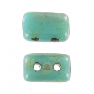 Rullas 3x5 mm Green Turquoise Travertin x10g