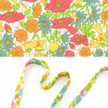 Biais en tissu Liberty Poppy and Daisy Yellow x1m