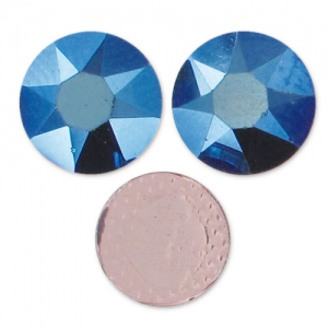 Strass Hotfix Swarovski 7 mm Crystal Metallic Blue x12