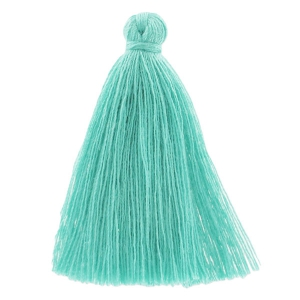Pompon imitation coton 43-46 mm Teal x1