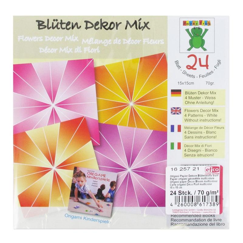 papier origami flowers 15x15 cm d grad x24 perles co. Black Bedroom Furniture Sets. Home Design Ideas