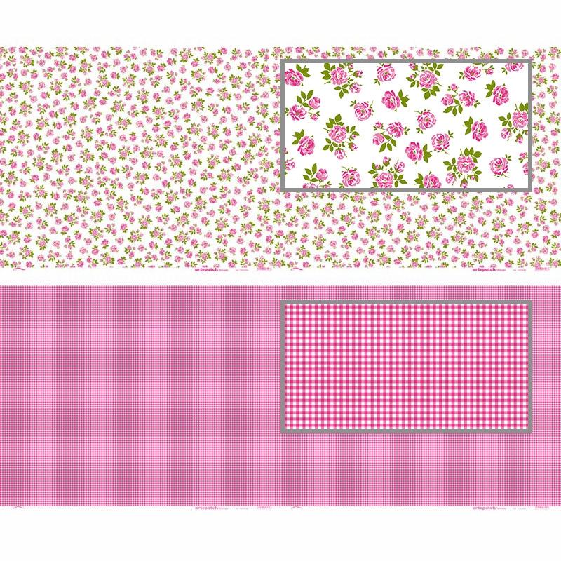 Feuilles de papier d coratif coller roses blanc x2 artemio perles co - Papier adhesif decoratif ...
