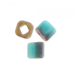 Cubes Toho 1.5 mm TC-01-  Y857F - Hybrid Frosted Turquoise Apollo x10g