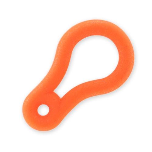 attache pvc 34x20 mm orange fluo mat x1 perles co. Black Bedroom Furniture Sets. Home Design Ideas