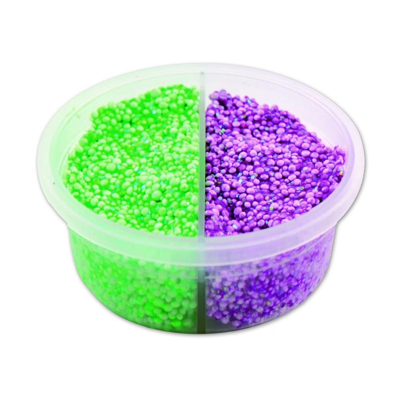 pte modeler perle padaboo vertviolet fluo paillet x38g - Vert Et Violet