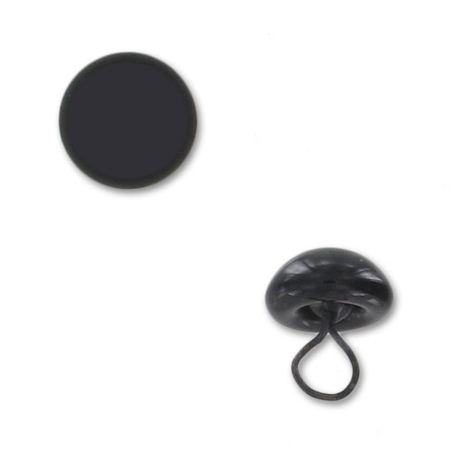 oeil d 39 animal en verre coudre 6 mm noir x1 perles co