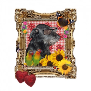 Transfert Thermocollant 11x9 cm Dog in frame x1