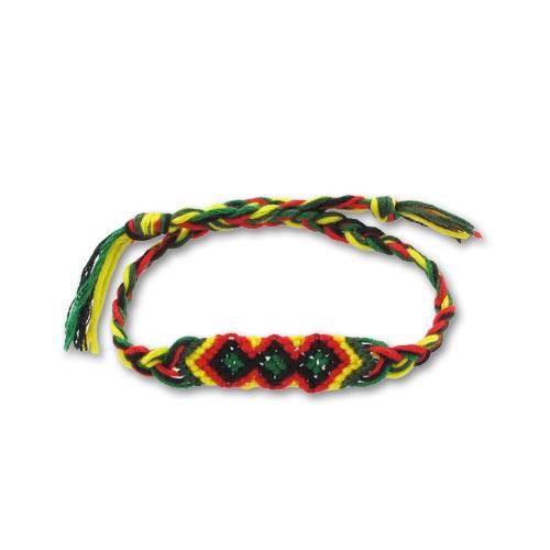 Bracelet rouge jaune vert