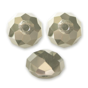 Ronde aplatie Swarovski 5040 8 mm Crystal Metallic Light Gold 2X