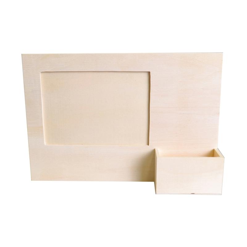 cadre photo en bois avec porte t l phone d corer support d c perles co. Black Bedroom Furniture Sets. Home Design Ideas