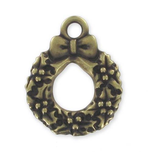 breloque couronne de no l 20 mm bronze x1 perles co. Black Bedroom Furniture Sets. Home Design Ideas