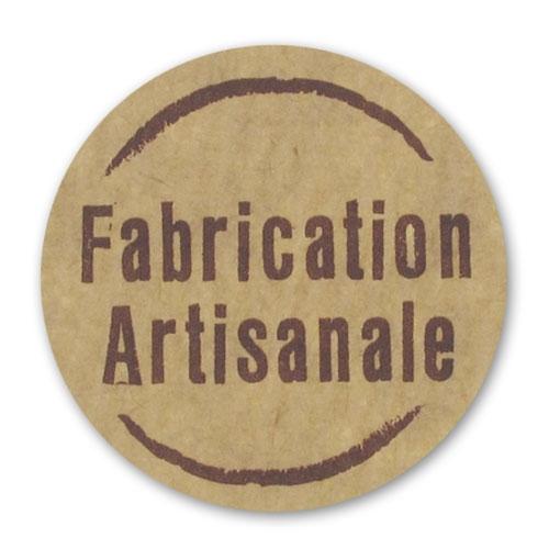 etiquettes fabrication artisanale 35x35 mm papier kraft x500 perles co. Black Bedroom Furniture Sets. Home Design Ideas