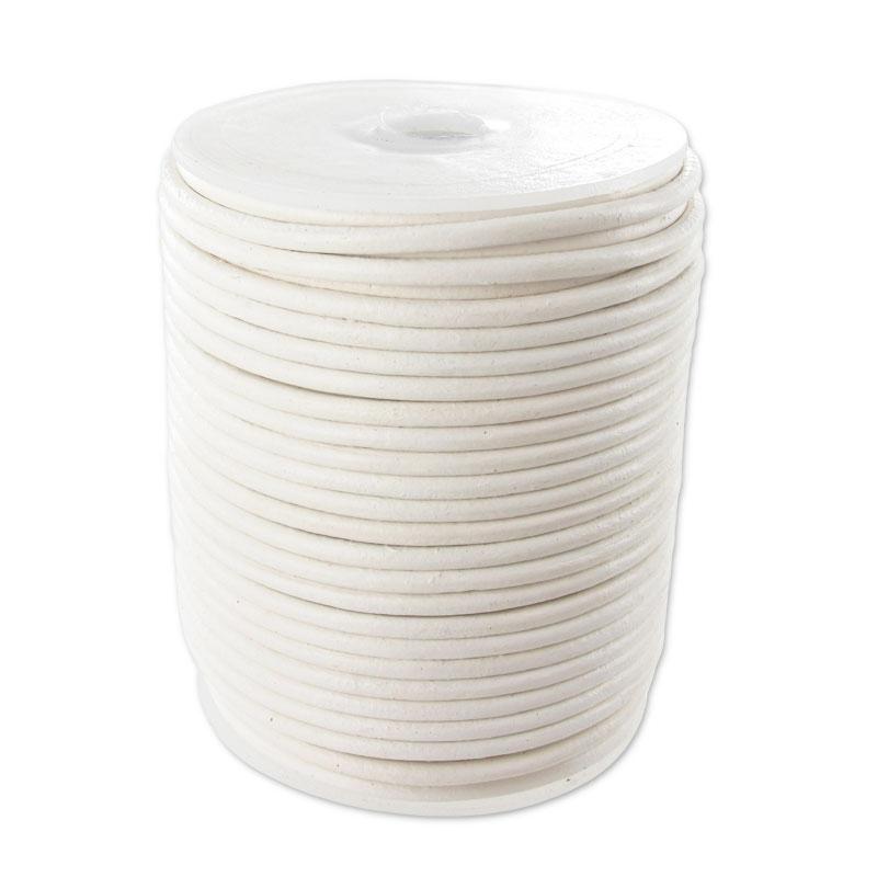 Cordon cuir 2 mm Blanc x 2 m