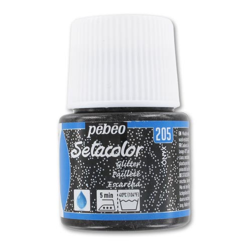 Peinture setacolor paillett onyx n 205 x45ml p b o perles co for Peinture a paillette avis