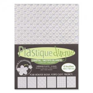 perle feuille plastique 100x transparente blanc